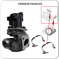 Vanne EGR + Joints + 2 Colliers pour Citroën 1.6 HDI Ford 1.6 TDCI