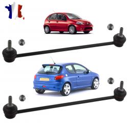 Lot de 2 biellettes de barre stabilisatrice avant gauche ET droite pour Citroën C2, C3, DS3 & Peugeot 1007, 206