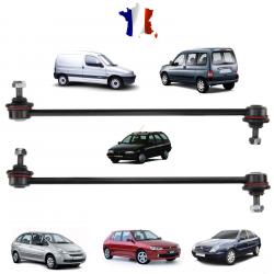 Lot de 2 biellettes de barre stabilisatrice avant gauche et droite pour Citroën Berlingo Xsara ZX & Peugeot 306