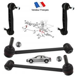 Lot de 4 biellettes de Carrossage & barre stabilisatrice arrière pour Peugeot 406 tous modèles
