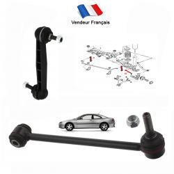 Lot de 2 biellettes de Carrossage & barre stabilisatrice arrière pour Peugeot 406 tous modèles