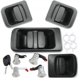 Kit de poignées extérieures de portes avec 4 barillets pour Nissan Interstar Opel Movano Renault Master 2