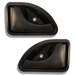 Lot de 2 poignées noire intérieure de porte avant gauche et droite pour Nissan Kubistar Renault Kangoo Twingo