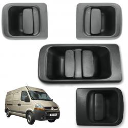 Lot de 4 poignées de porte extérieure avant gauche et droite + latérale + arrière Nissan Interstar Opel Movano Renault Master 2