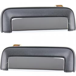 (Lot de 2) Poignée extérieure chromée de porte avant gauche et droite pour Mitsubishi L200 L300