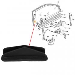 Clips de guidage de vitre gauche ou droit pour Citroën Saxo Peugeot 106 306