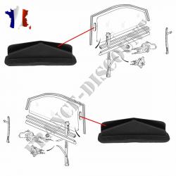 Lot de 2 clips de guidage de vitre gauche ou droit pour Citroën Saxo Peugeot 106 306