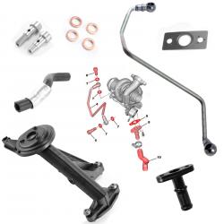 Kit de montage turbo crépine pompe à huile tuyaux graissage pour Citroën Ford Mazda Peugeot 1.6HDI