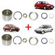 2 Roulements de roue arrière pour Citroën AX Visa Xsara ZX Peugeot 106 205 306 306 309
