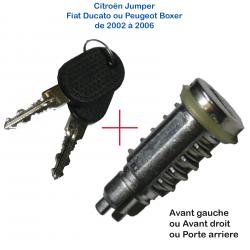 Canon de barillet pour serrure de porte de PEUGEOT Boxer ou CITROËN Jumper ou FIAT Ducato (de 2002 à 2006)