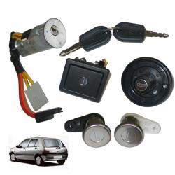 Kit antivol de direction neiman + barillets de portes avant pour Renault Clio 1