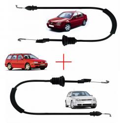 Câble ouverture de porte droite et gauche serrure pour Volkswagen Bora de 1998 à 2005 Golf 4 de 1997 à 2006