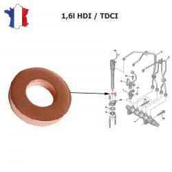 Joint d'injecteur pour Citroën Peugeot 1.4 - 1.6 - 2.0 - 2.5 HDI TDI