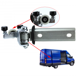 Kit de galet de guidage de porte latérale coulissante droite pour Iveco Daily 4 depuis 2006