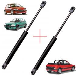 Lot de 2 Vérins de coffre hayon pour Peugeot 106 jusqu'à 1997 - 205 (1987 à 1998) - 306 (1993 à 2001)