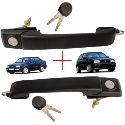 (Lot de 2) Poignée de porte avant gauche et droite pour Volkswagen Golf 3 (1992 à 1998) Vento (1992 à 1998)
