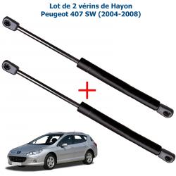 Lot de 2 Vérins de coffre hayon pour Peugeot 407 SW de 2004 à 2011