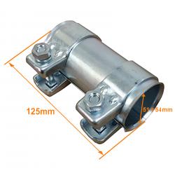 Manchon tuyaux échappement Longueur 125 mm Diamètre 54 mm