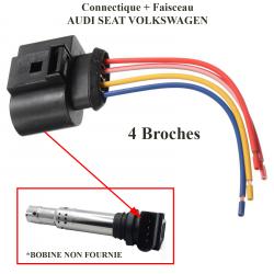 Réparation Faisceau de Câblage Fiche Électrique Connecteur de Bobine d'allumage crayon pour 1.8l T (Turbo essence) & 2.0 l 130ch