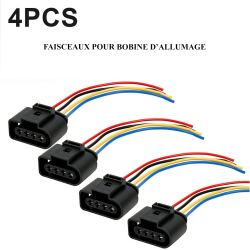 Kit Complet pour la réparation du faisceau électrique de Bobine d'allumage 1.2, 1.4, 1.6, 1.8, 2.0l TSI, TFSi, Turbo essence,Fsi