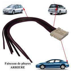 Kit réparation de faisceau prise électrique Connecteur pour platine de feux arrière porte ampoules pour 407 206 SW & 307 SW
