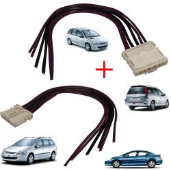2X Kit réparation de faisceau prise électrique Connecteur pour platine de feux arrière porte ampoules pour 407 206 SW & 307  SW