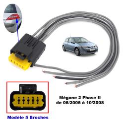 Kit réparation de faisceau prise électrique Connecteur pour platine de feux arrière porte ampoules de Renault Megane II Phase 2