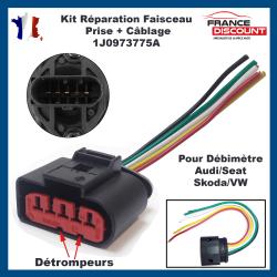 Kit Réparation Faisceau Connecteur avec prise électrique pour Capteur de Débitmètre d'air AUDI VW SEAT SKODA 1J0973775A