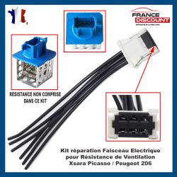 Kit réparation Faisceau Connectique de Résistance de chauffage climatisation pour Citroën Xsara Picasso C5 Peugeot 206 CC SW