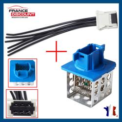 Kit réparation Faisceau Connectique + Résistance de chauffage climatisation pour Citroën Xsara Picasso C5 Peugeot 206 CC SW