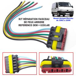 Kit de réparation faisceau de platine de feux arrière porte ampoules de Citroën Jumper Peugeot Boxer Fiat Ducato (2002-2006)