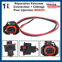 Kit de Réparation Faisceau de Câblage Fiche Câbles Electrique et Connecteur pour Injecteur BOSCH (Toute Marque/Modèle Véhicules)