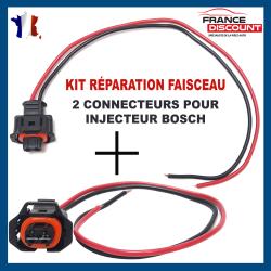 (Lot de 2) Réparation Faisceau de Câblage Fiche Câbles Electrique et Connecteur Injecteur BOSCH (Toute Marque/Modèle Véhicules)