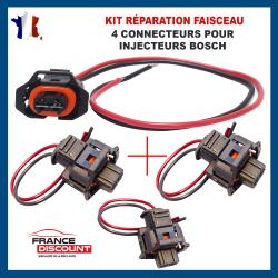 (Lot de 4) Réparation Faisceau de Câblage Fiche Câbles Electrique et Connecteur Injecteur BOSCH (Toute Marque/Modèle Véhicules)