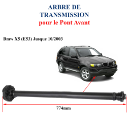 Arbre de transmission longitudinal AVANT BMW X5 E53 jusque 2003