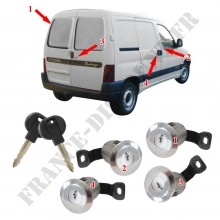 KIT 4 BARILLETS DE PORTES CITROEN BERLINGO
