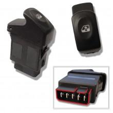 Bouton de lève-vitre avant gauche avec option confort pour RENAULT Clio 2, Kangoo, Mégane 1 ou Scénic 1
