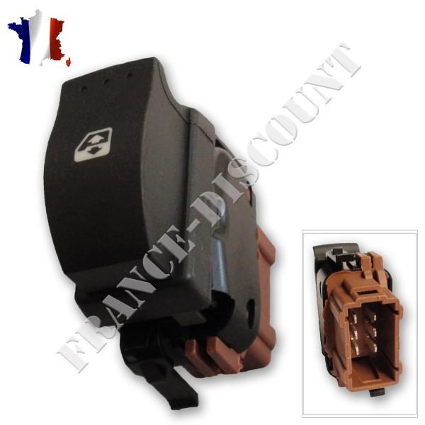 bouton de l ve vitre option confort pour renault clio 2 prix bas. Black Bedroom Furniture Sets. Home Design Ideas