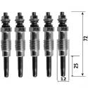 Pack de 5 bougies de préchauffages pour MERCEDES Série l 3.0d