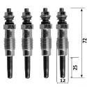 Pack 4 bougies de préchauffage pour MERCEDES Série l 2.4d PEUGEOT 205 306 406 806 CITROËN Zx Xsara C15 RENAULT Clio R19 R21