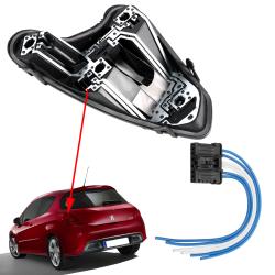 Platine feux arrière gauche porte ampoules avec prise Peugeot