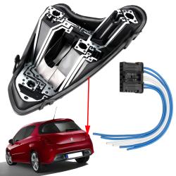 Platine feux arrière droite porte ampoules avec prise Peugeot