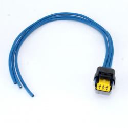 Connectique prise + fiche faisceau électrique capteur de pression gasoil 1,4l & 1,6l HDI