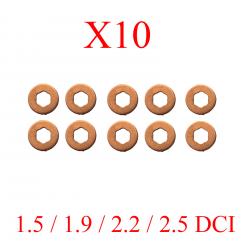 Lot de 10 Joints injecteur rondelles pour Renault 1.5 1.9 2.2 2.5 DCI
